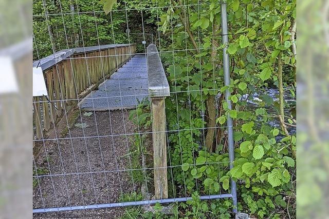 Gemeinde muss Brücke kurzfristig sperren