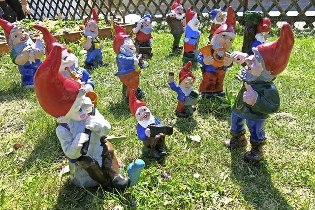 40 Zwerge tummeln sich im Garten