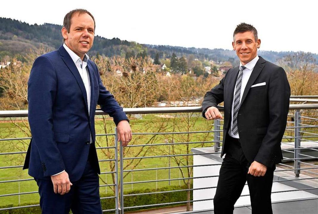 Vorstand Jörg Straub (links) und der Vorstandsvorsitzende Marc Ullrich   | Foto: Thomas Kunz