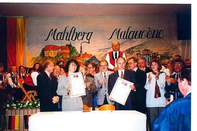 Mahlberg gedenkt 25 Jahren Freundschaft mit Malaucène