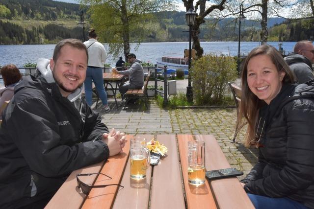 Fußgängerzone in Titisee über Pfingsten bestens besucht