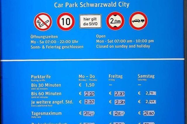 Trotz Gratis-Parken kaum Andrang in Freiburger Parkgarage