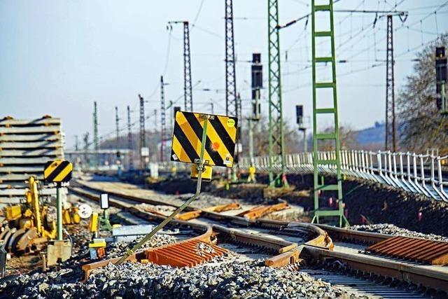 Der Bau des 3. und 4. Gleises der Rheintalbahn erreicht Basel