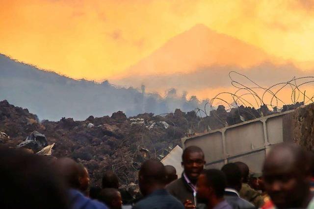 Vulkan-Ausbruch im Kongo treibt tausende Menschen zur Flucht