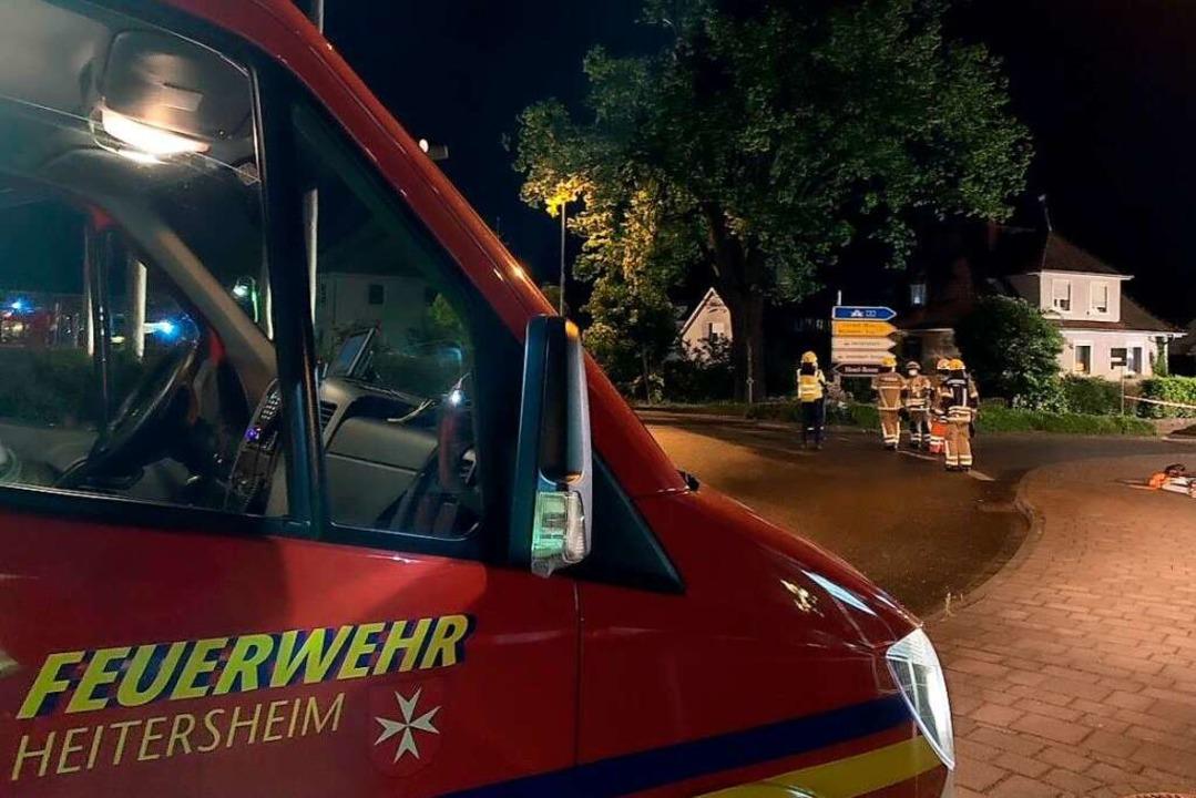 Nach etwa einer dreiviertel Stunde war die Lage wieder sicher.    Foto: Feuerwehr Heitersheim