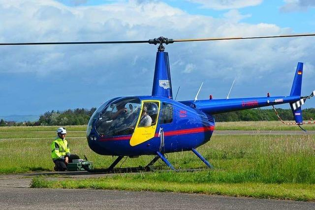 Geothermie-Potential in der Region Freiburg wird per Helikopter erkundet