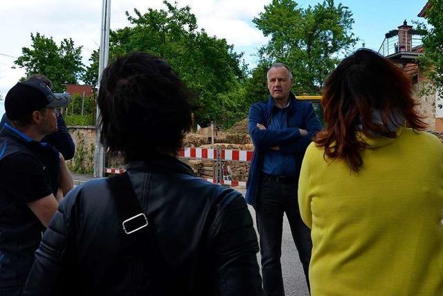 Mit dem Bürgermeister unterwegs auf Wahlkampf-Spaziergang