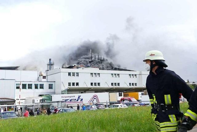 Brand bei Lebensmittelbetrieb Adler in Bonndorf