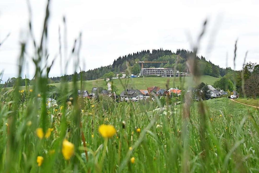 Hinter der Baustelle Luisenhöhe, wo de...sresort entsteht, liegt der Illenberg.  | Foto: Sophia Hesser