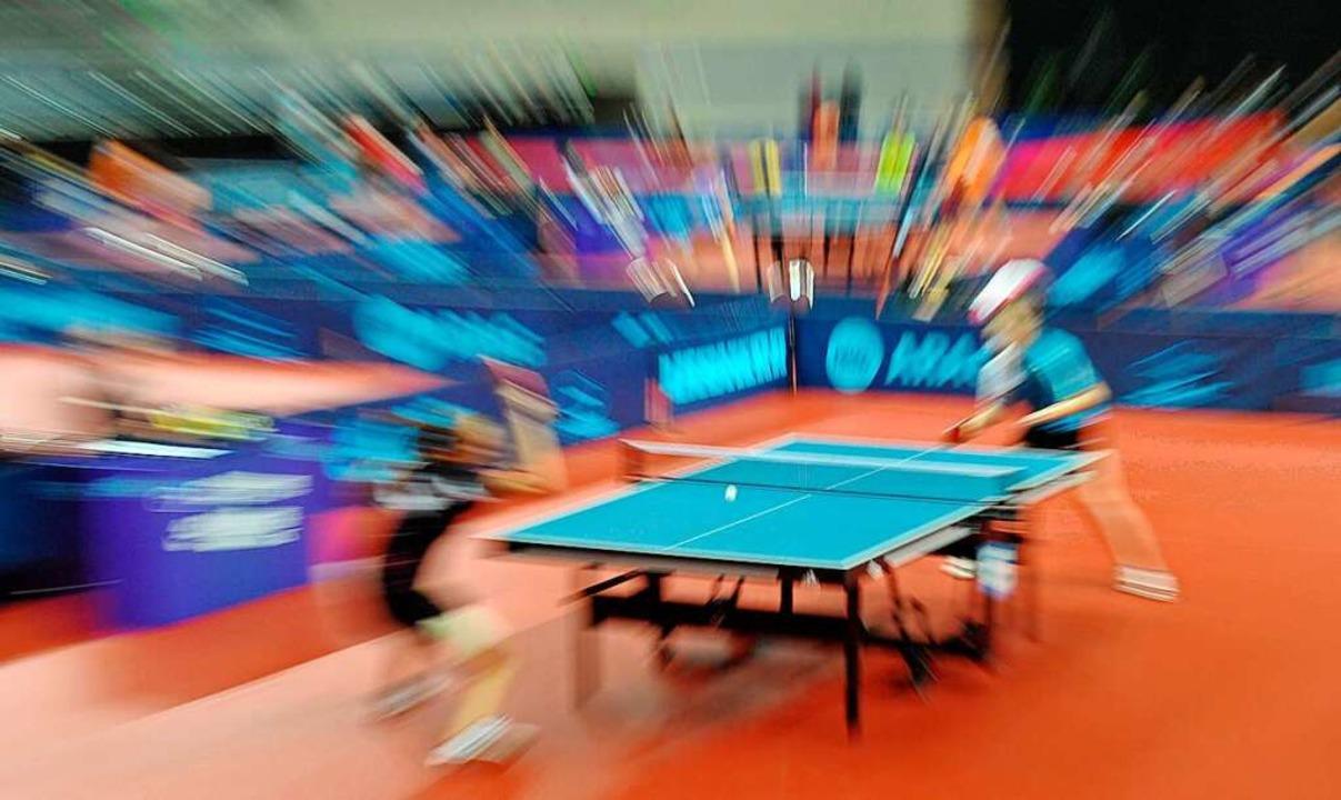 Tischtennis ist die schnellste Rücksch..., die Offenburgerinnen halten gut mit.  | Foto: Carmen Jaspersen