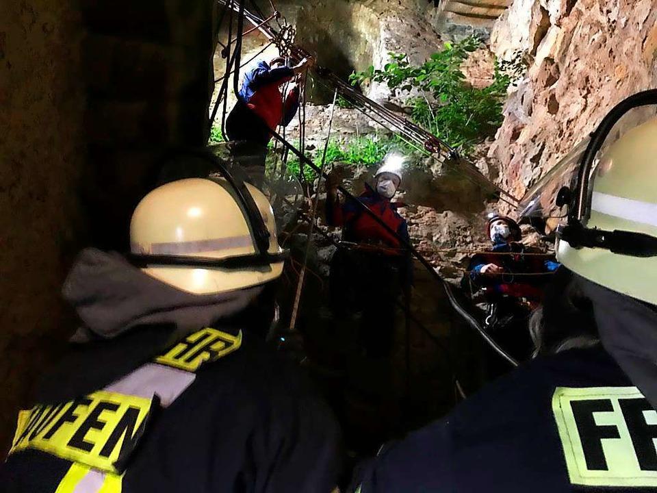 Feuerwehr und Bergwacht im gemeinsamen Einsatz  | Foto: Freiwillige Feuerwehr Staufen