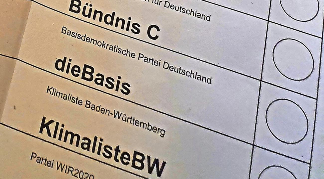 Bei der Landtagswahl war die Basis erstmals wählbar.     Foto: Karl Kovacs