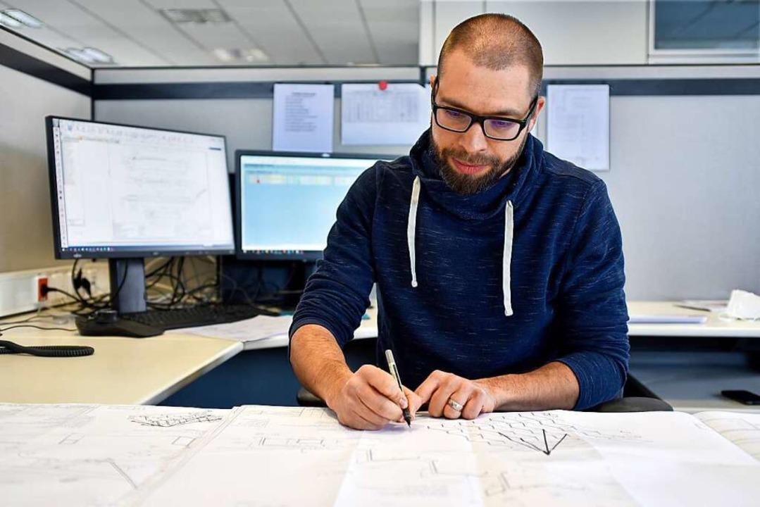 Ein Linck-Konstrukteur bei der Arbeit  | Foto: Thomas Kunz