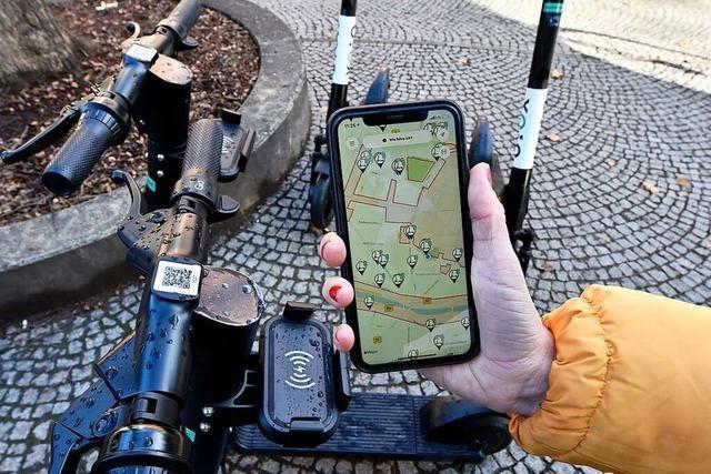 Roller-Sharing funktioniert in Freiburg ohne Schwierigkeiten