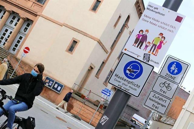 In der Lörracher Fußgängerzone gilt weiterhin Maskenpflicht