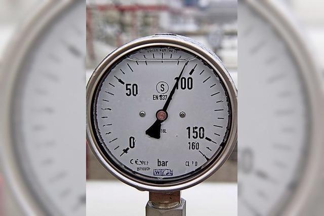 Kontrolle der Erdgasleitungen