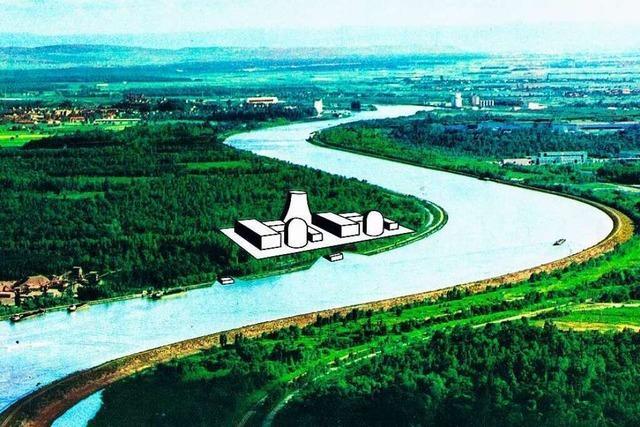 Wie die Badenwerk AG am Rhein ein großes Atomkraftwerk bauen wollte