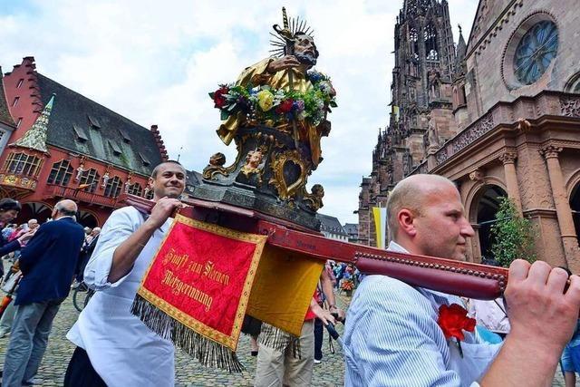 Die traditionelle Fronleichnamsprozession in Freiburg fällt aus