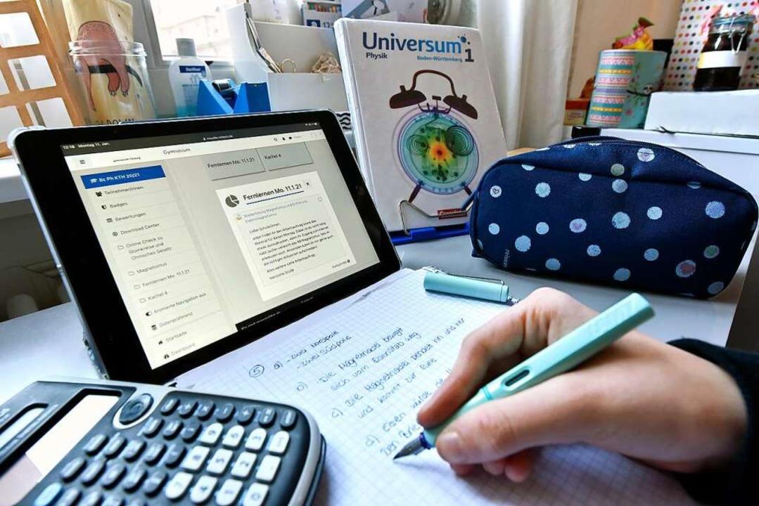 Lernen allein zuhause.   | Foto: Thomas Kunz