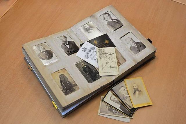 Die Carte de visite war im 19. Jahrhundert auch in Lahr sehr beliebt