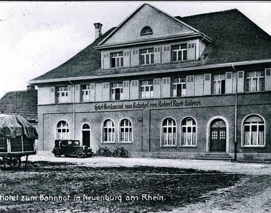 Das Stadtarchiv Neuenburg  hat eine hi...dem Jahre 1932 in seiner Bildsammlung.  | Foto: Elmar Späth/Stadt Neuenburg