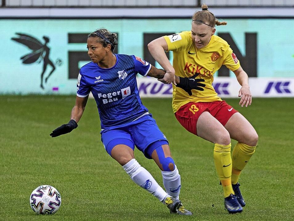 Bloß nicht aufhalten lassen: Diese Vor...uch am Sonntag gegen Bayer Leverkusen.  | Foto: Eibner-Pressefoto via www.imago-images.de