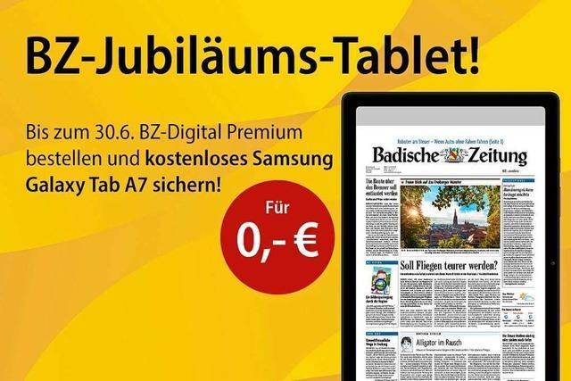 Das BZ-Jubiläums-Tablet: Sichern Sie sich ein kostenloses Samsung Galaxy Tab A7