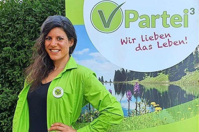 Viola Stocker aus Schopfheim kandidiert für die V-Partei<sup>3</sup>