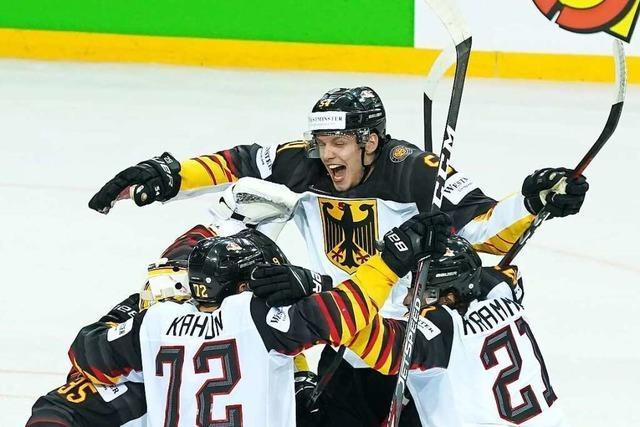 Das deutsche Team präsentiert sich stark bei der Eishockey-WM