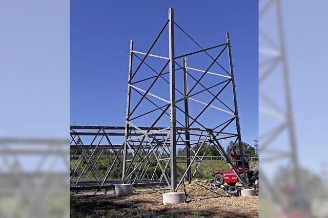 Aufbau der Stromtrasse im Zeitplan