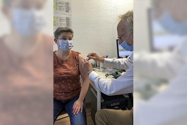 Erfreut über die Bereitschaft zur Impfung