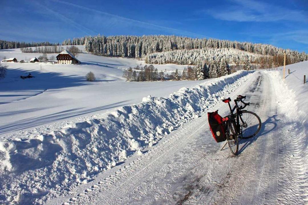 Radfahren geht auch auf Schnee und Eis.  | Foto: privat