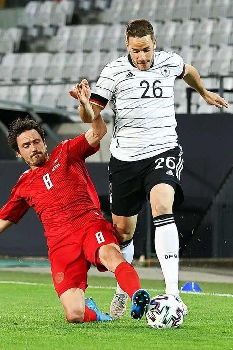 Günter im Spiel gegen Dänemark.  | Foto: Christian Charisius (dpa)