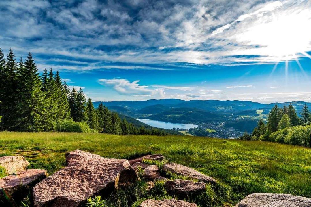 Der Tourismus will wieder eine weite P...innen: Blick vom Hochfirst zum Titisee  | Foto: HTG