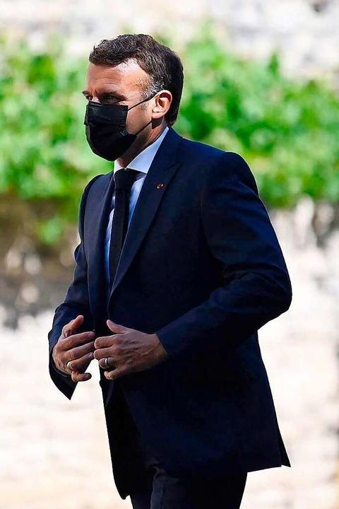 Will sich nächstes Jahr in die Stichwahl retten: Präsident Emmanuel Macron    Foto: LIONEL BONAVENTURE (AFP)