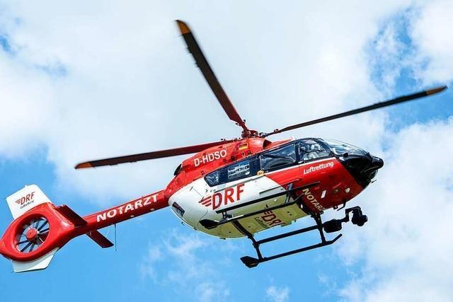 Sieben Schwerverletzte nach Frontalzusammenstoß zweier Autos bei Schiltach