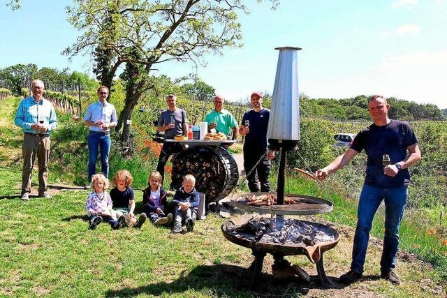 In Bischoffingen gibt es eine neue Grillstelle mit Blick in die Vogesen