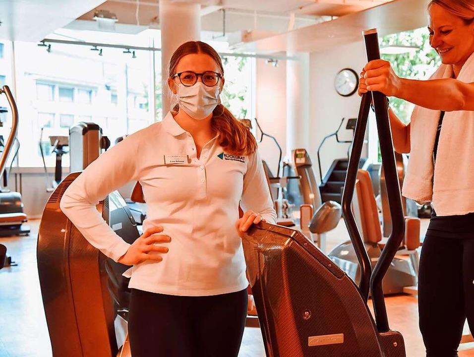 Trainerin Luisa Schnock im Rückgrat Woman, dem Fitnessstudio für Frauen    Foto: PU-Gruppe