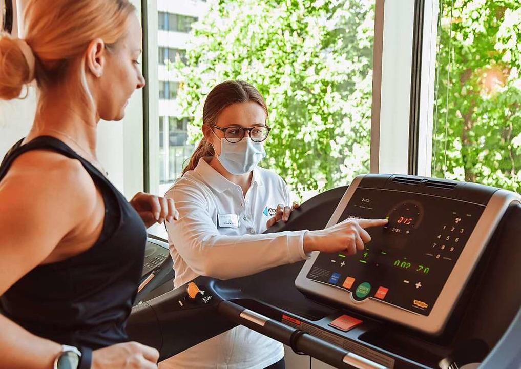 Bringt das Herz zum Klopfen und die Pf...: Eine Cardio-Einheit auf dem Laufband    Foto: PU-Gruppe