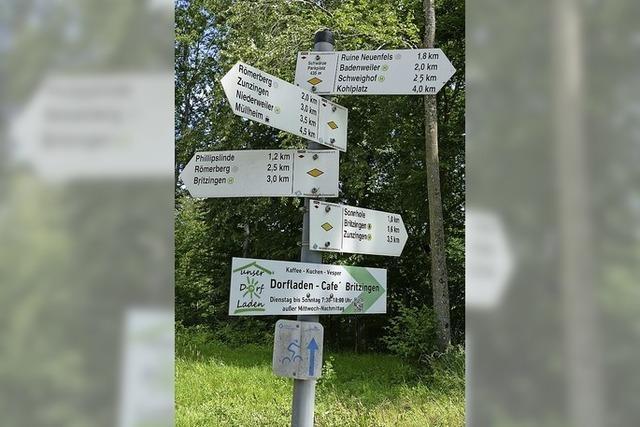 Anderen Wanderern zeigen, wo's langgeht