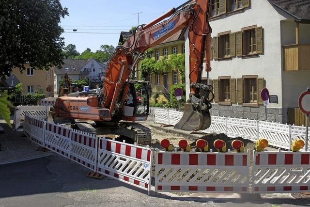 Bauarbeiten gehen weiter