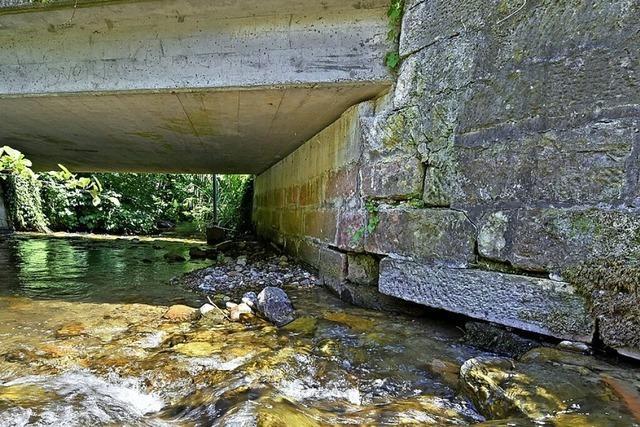 Ist die kleine Brücke am Freiburger Waldhaus einsturzgefährdet?