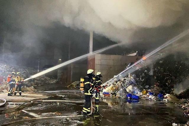 Brand im Freiburger Industriegebiet endet glimpflich