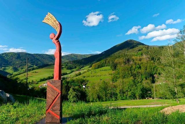 In Simonswald wurde wieder ein Kunstweg eingerichtet