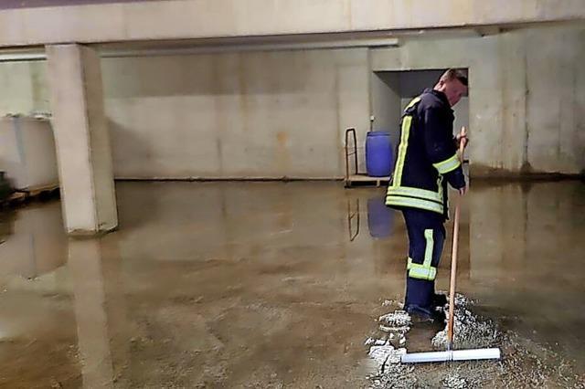 Unwetter über Hänner und Oberhof führt zu Feuerwehreinsätzen