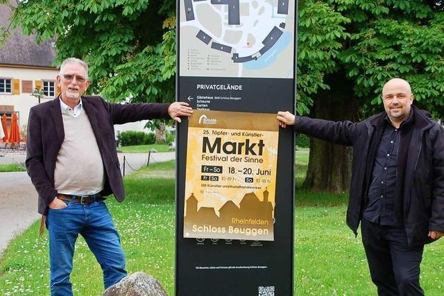 Was bietet der Töpfer- und Künstlermarkt auf Schloss Beuggen?