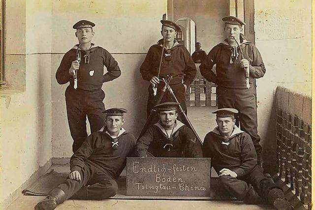 Ein junger Grenzacher wurde 1905 mit der Marine nach China geschickt