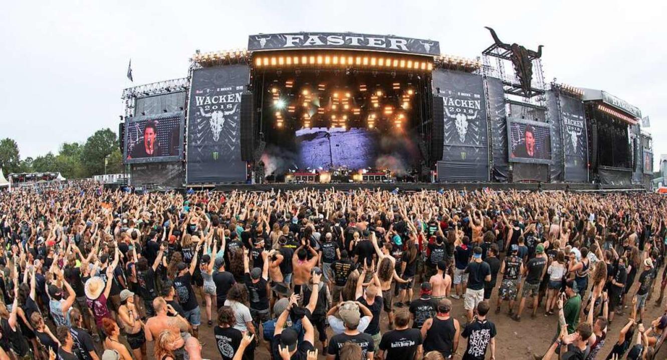 Das Wacken Open Air Festival ist für 2021 erneut abgesagt  | Foto: Daniel Reinhardt (dpa)