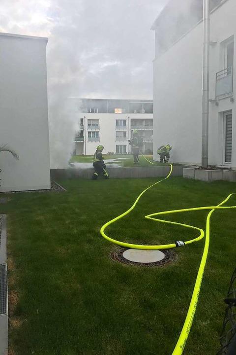 Die Feuerwehr war mit einem Großaufgebot  vor Ort.  | Foto: Feuerwehr Neuenburg