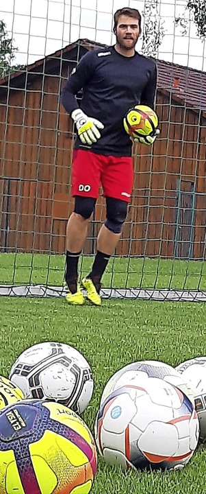 Torwarttrainer: Dominik Osek    Foto: Johannes Bachmann